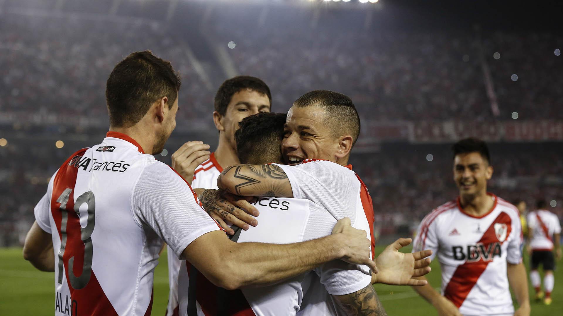 Sebastián Driussi marcó rápido y la alegría es toda de River (AP)