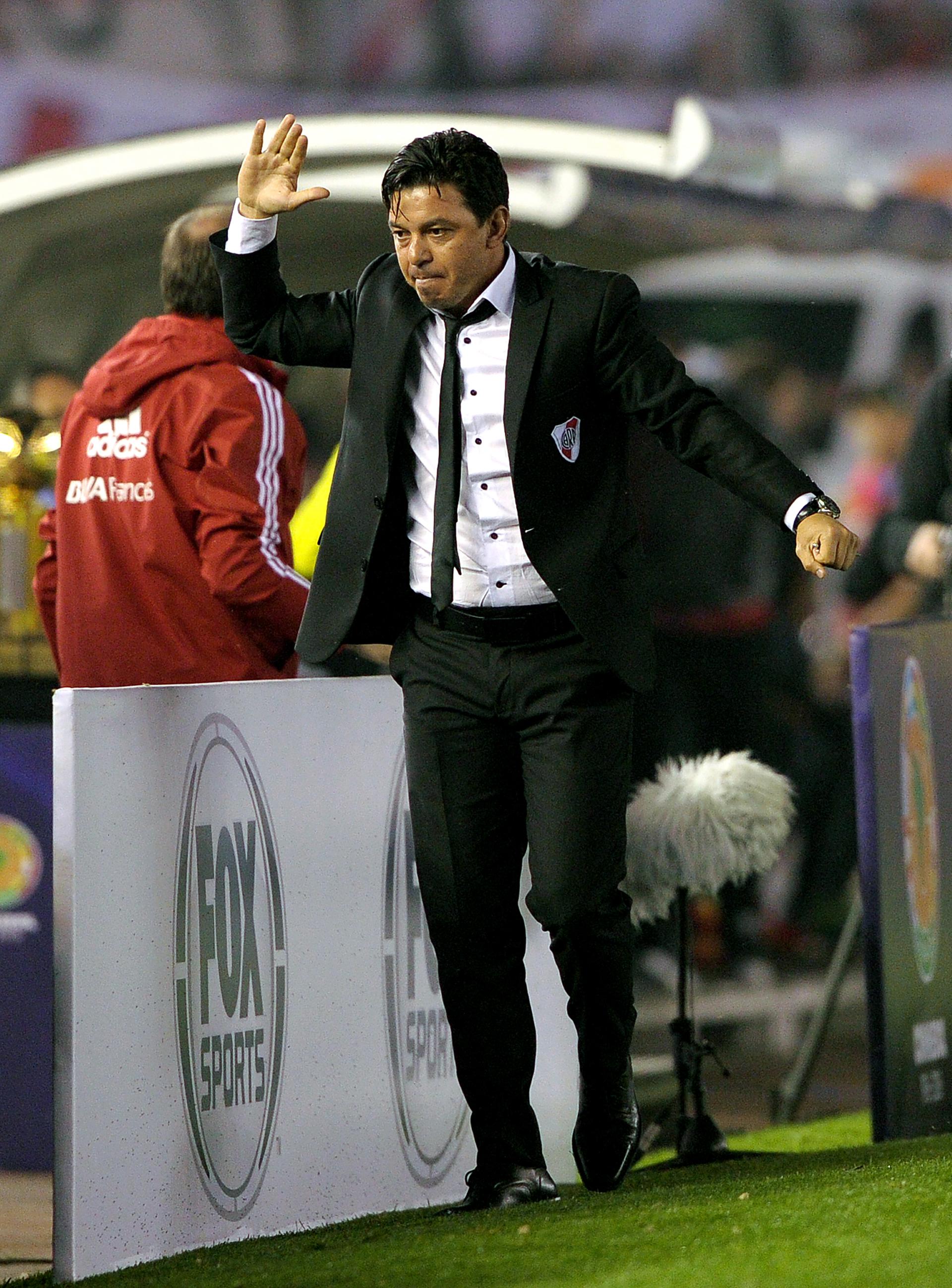 Marcelo Gallardo descarta la tensión contenida en el primer gol(AFP)