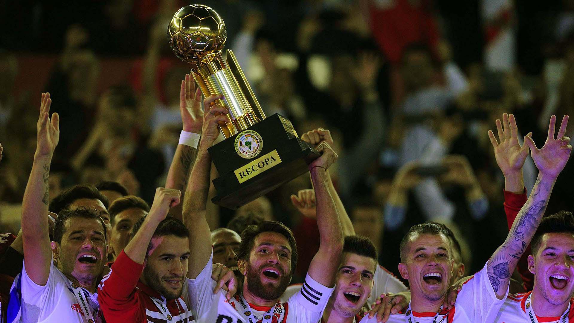 River venía de lograr la Recopa Sudamericana en la edición pasada frente a San Lorenzo(Télam)