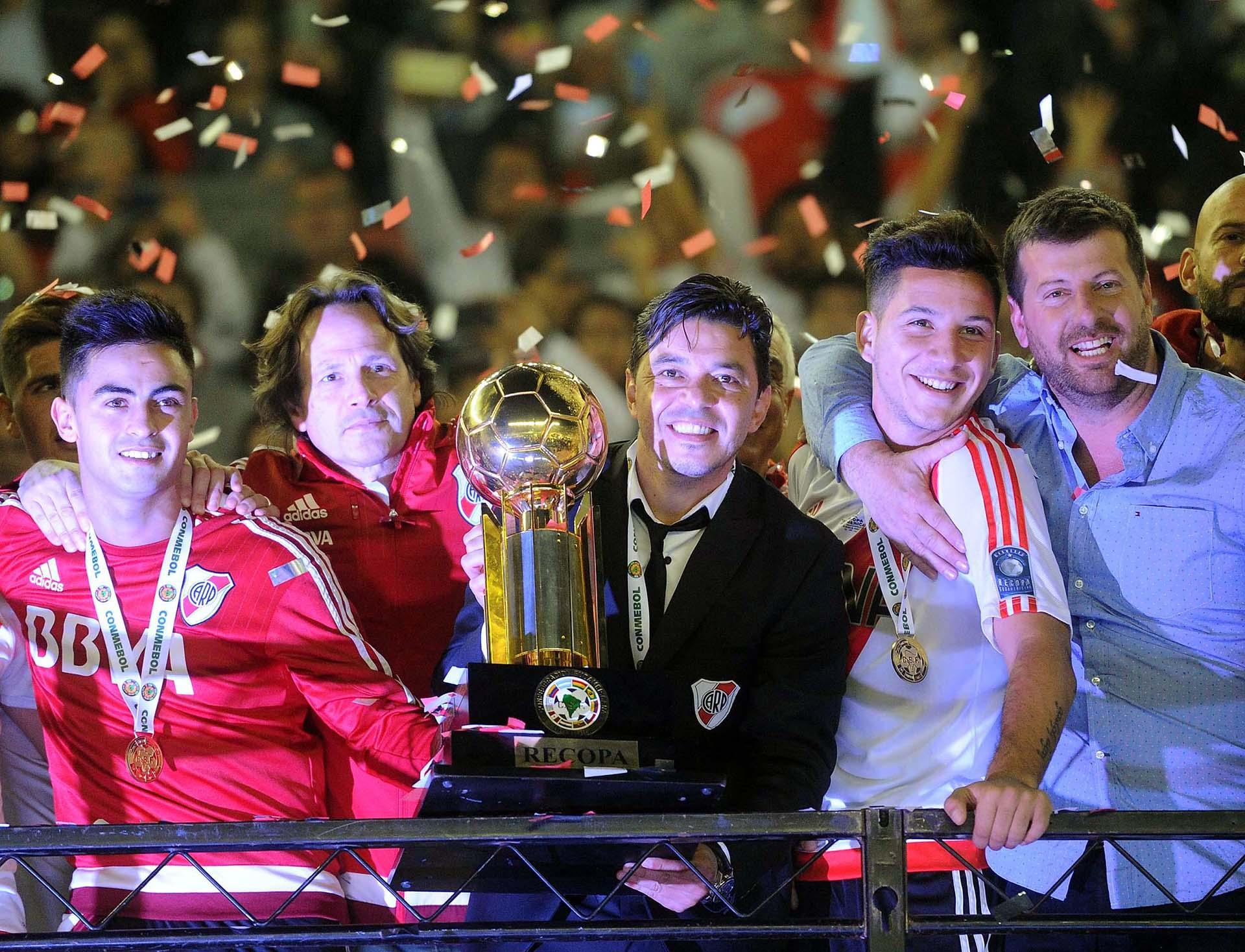Marcelo Gallardo sumó su quinto título como entrenador de River(Télam)