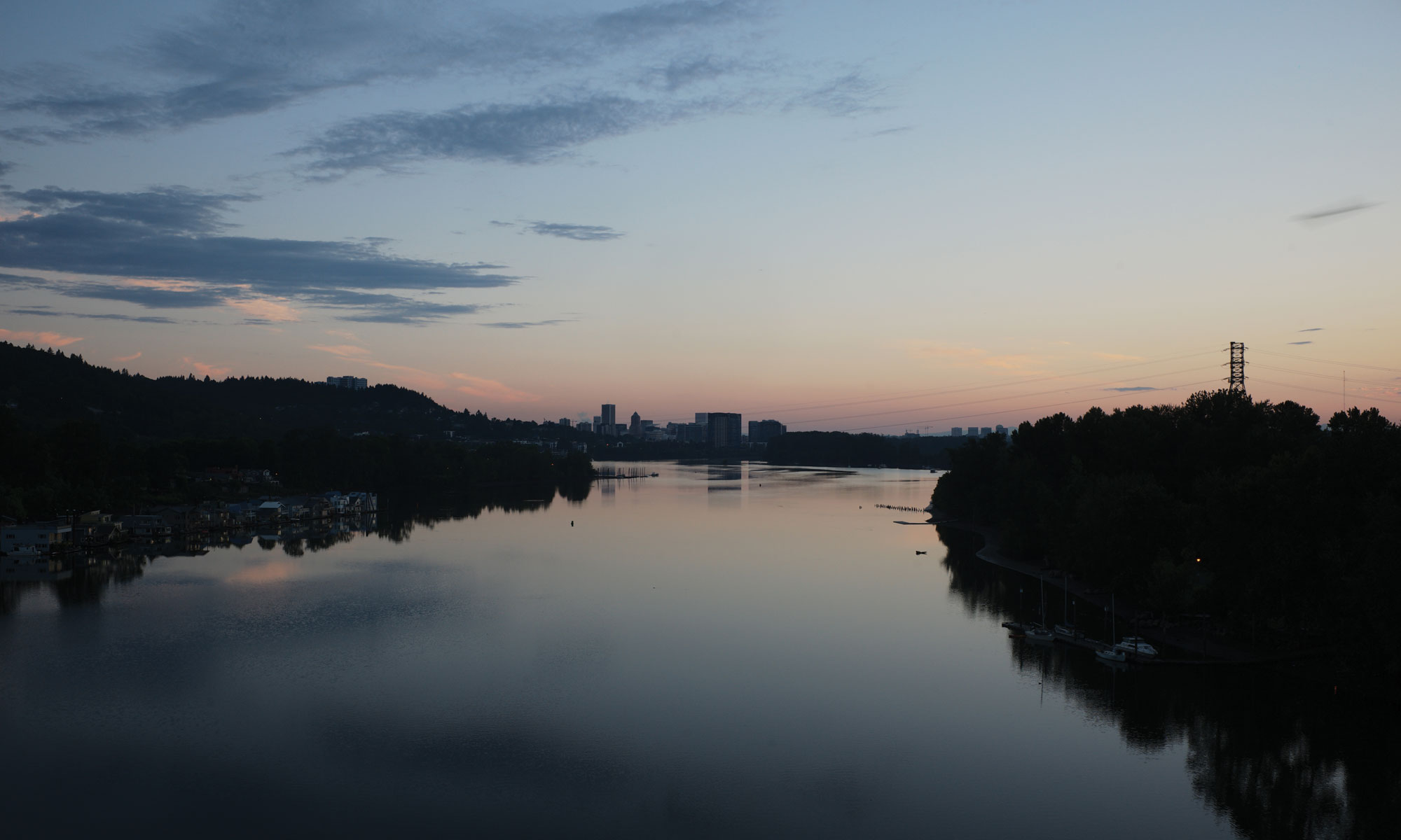 The view north from the Sellwood Bridge at dawn. (Vikesh Kapoor)