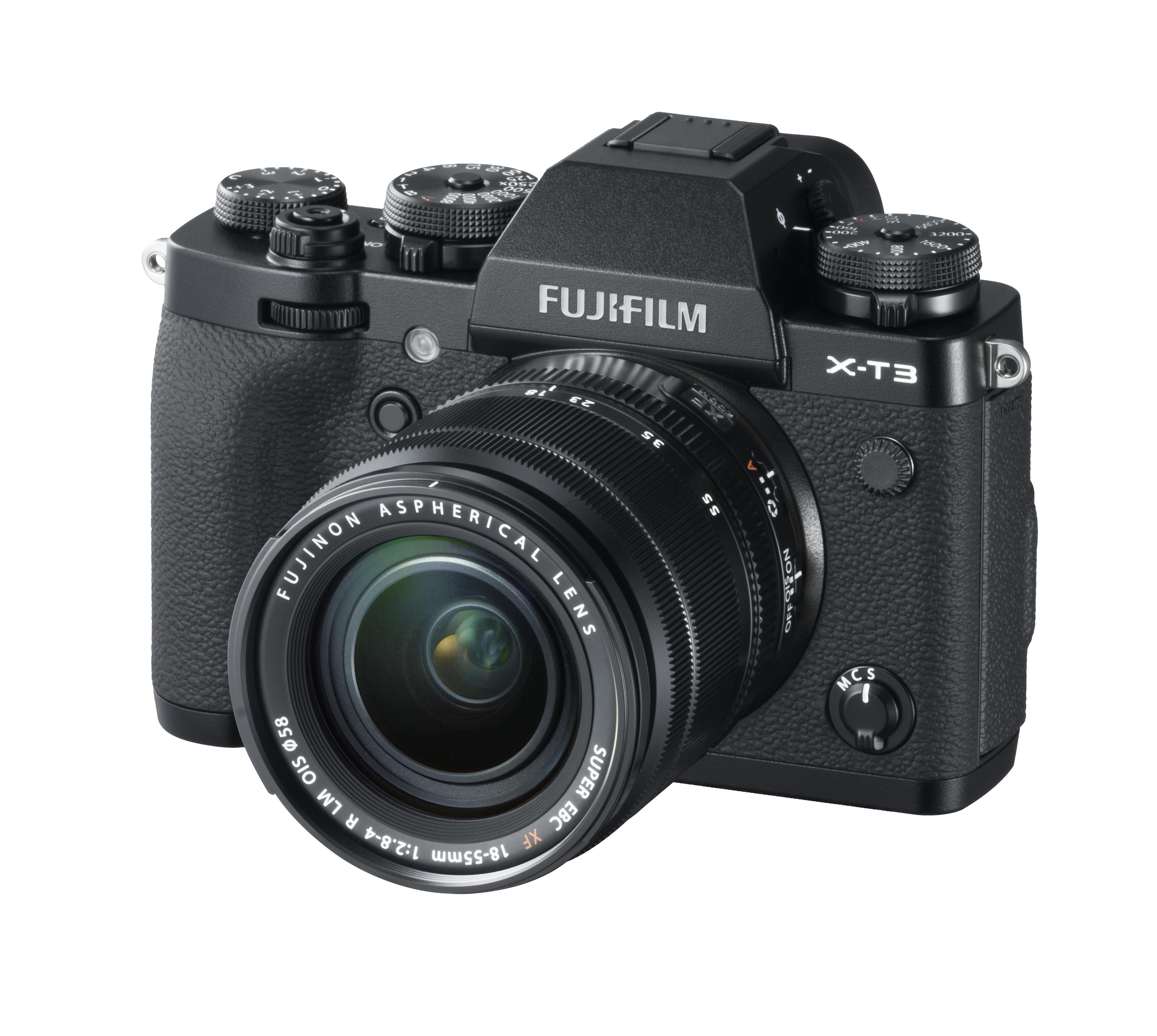 ProPhoto_X-T3_Black_LeftObl+XF18-55mm