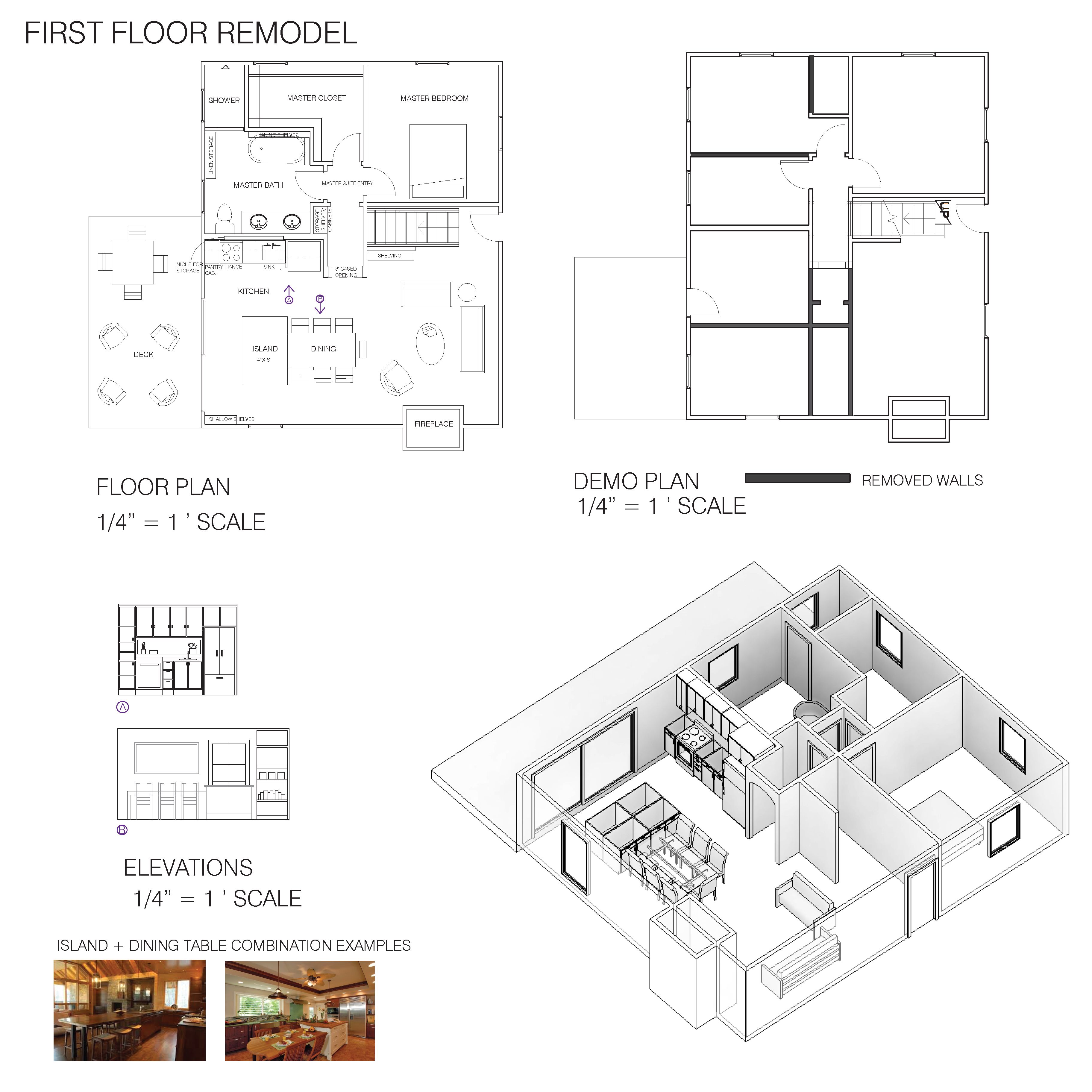 Entire floor design project designed by ashley ricketson for Open concept cape cod house plans