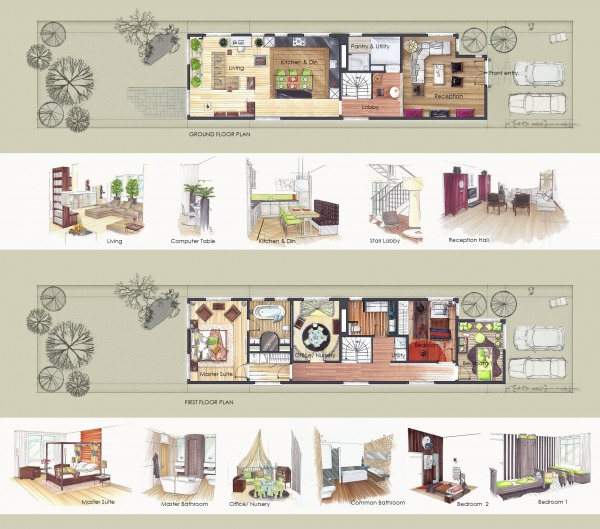 Plans and interior pre...