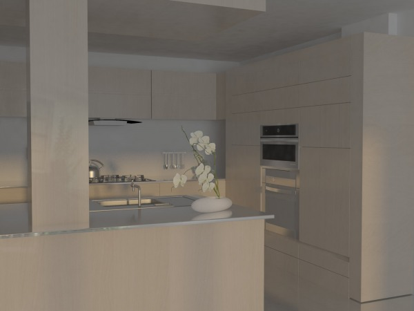 Image open kitchen + living ... (2)