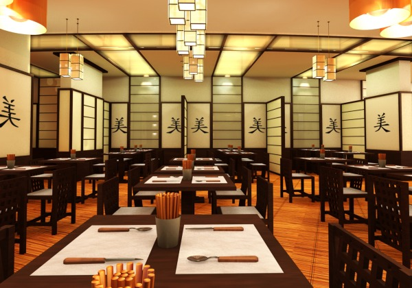 Image Assian Restaurant Design