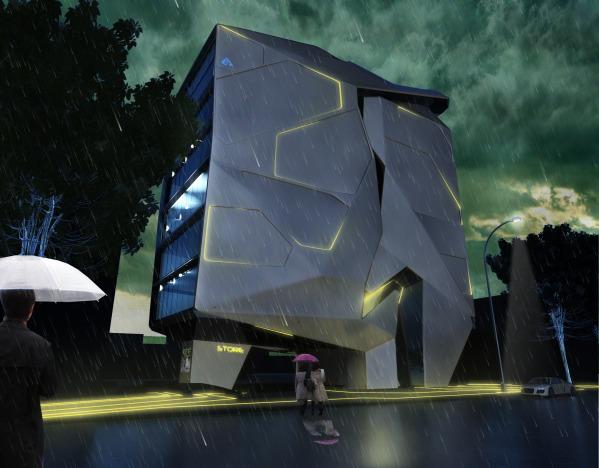 Image Divergent Building