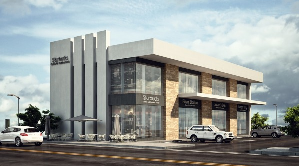 Commercial offices store designed by mahmoud morsy for Retail store exterior design