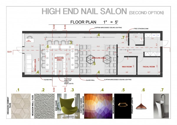 Nail Salon Floor Plan: Retail/Small Business Designed By Iva Baze