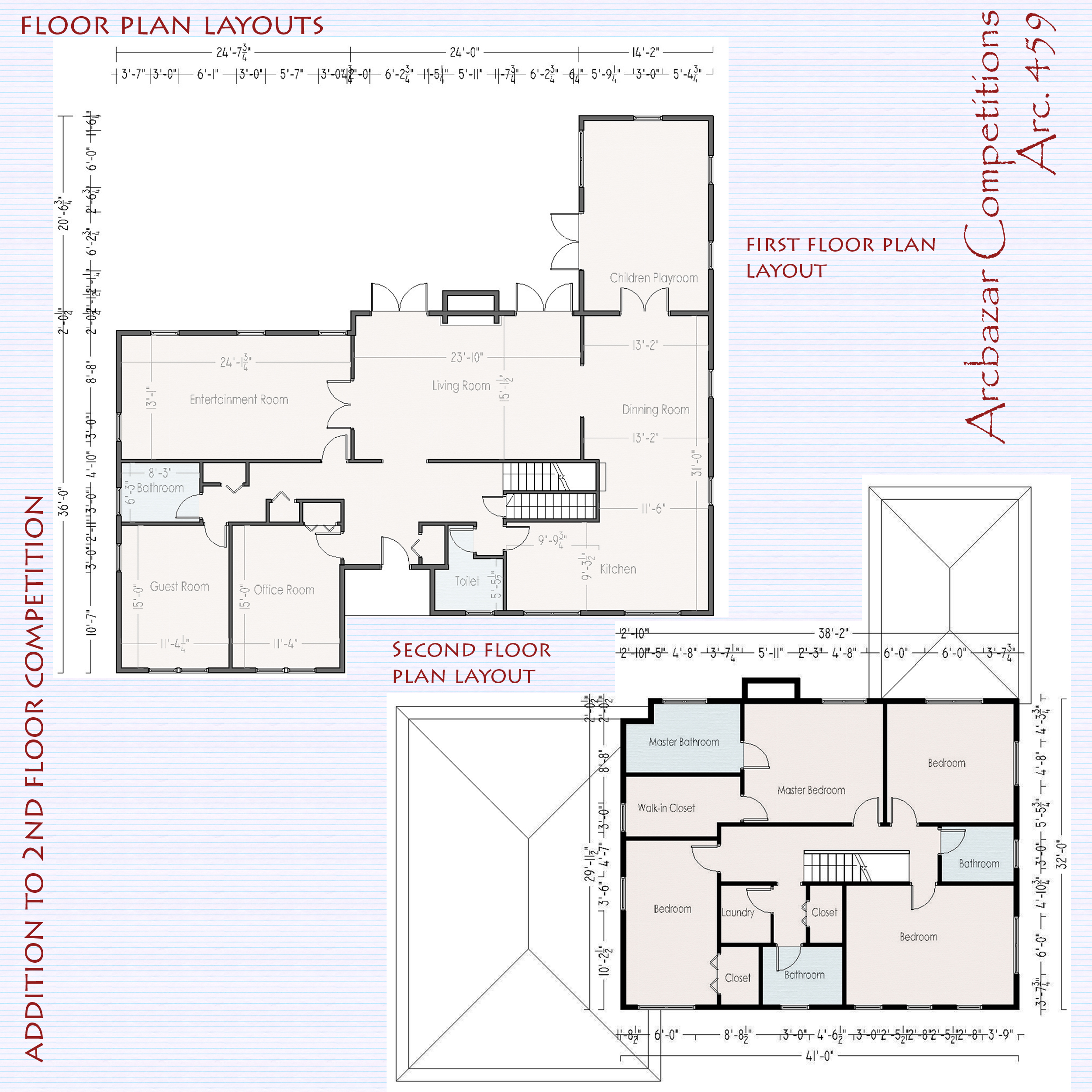 Room garages and similar additions designed by edlira for Second floor addition floor plans