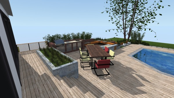 Image New Backyard Deck and ... (2)