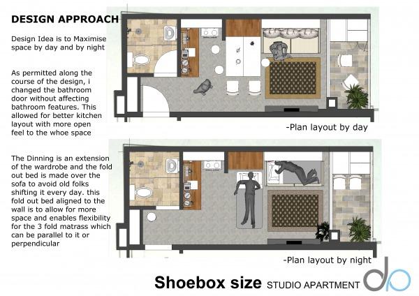Studio Apartment Size living room designedvalenty - shoebox-size studio apartment
