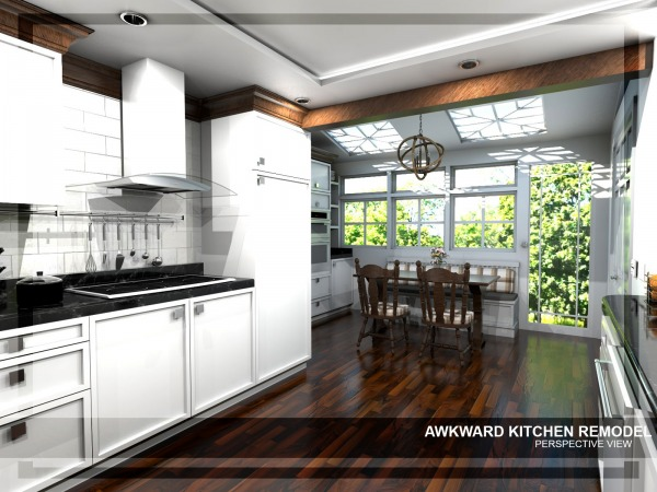 Image Awkward kitchen remode...