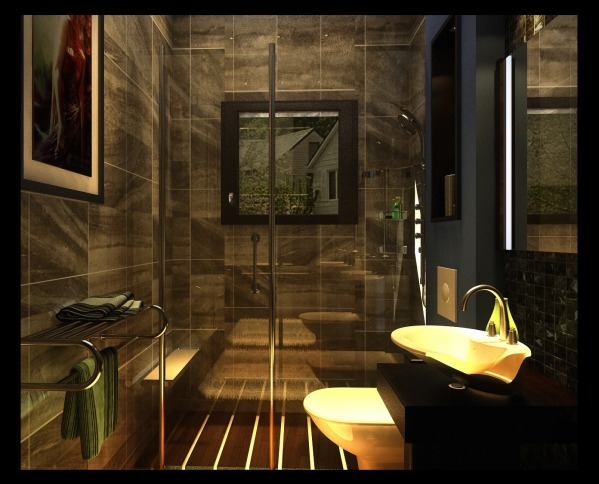 Image 3d work of the bathroo...
