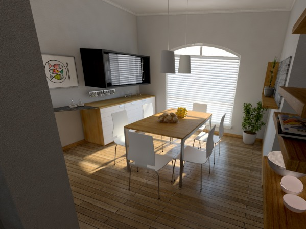 Image 3d model / dining room 1