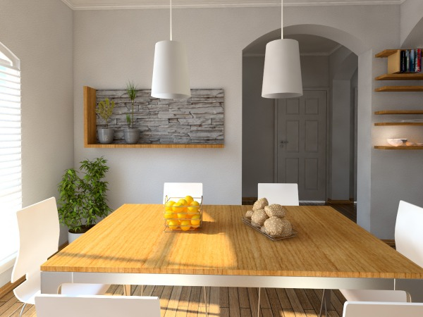Image 3d model / dining room 2