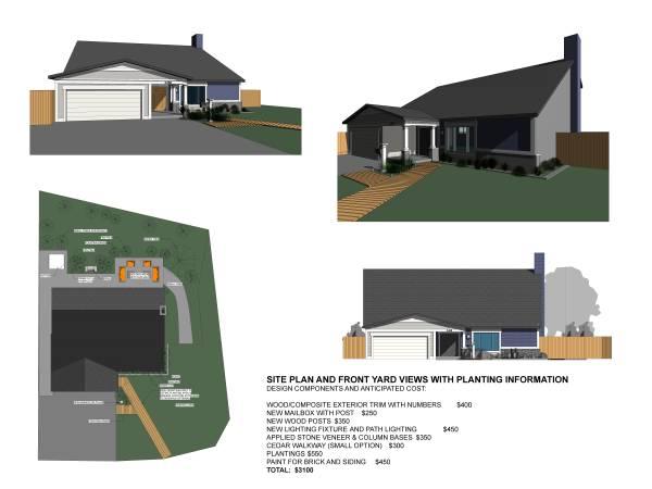 Image Site Plan, Front Yard ...