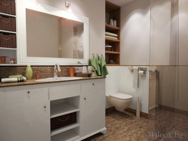 built-in washbasin wit...