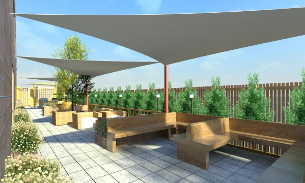 Image Outdoor patio for univ...