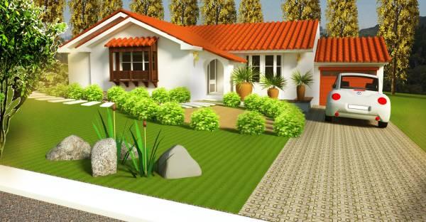 Image House Facade with Garden (2)
