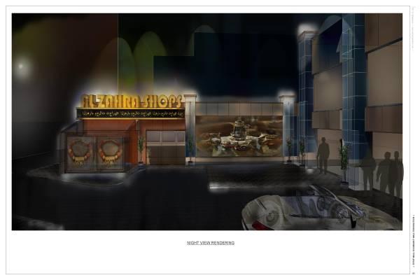 Image Night view rendering