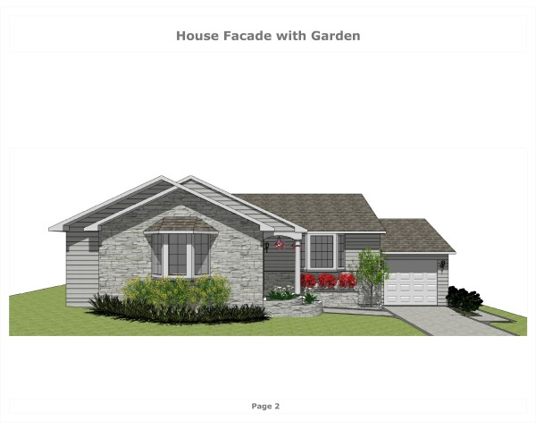Image House Facade with Garden (1)