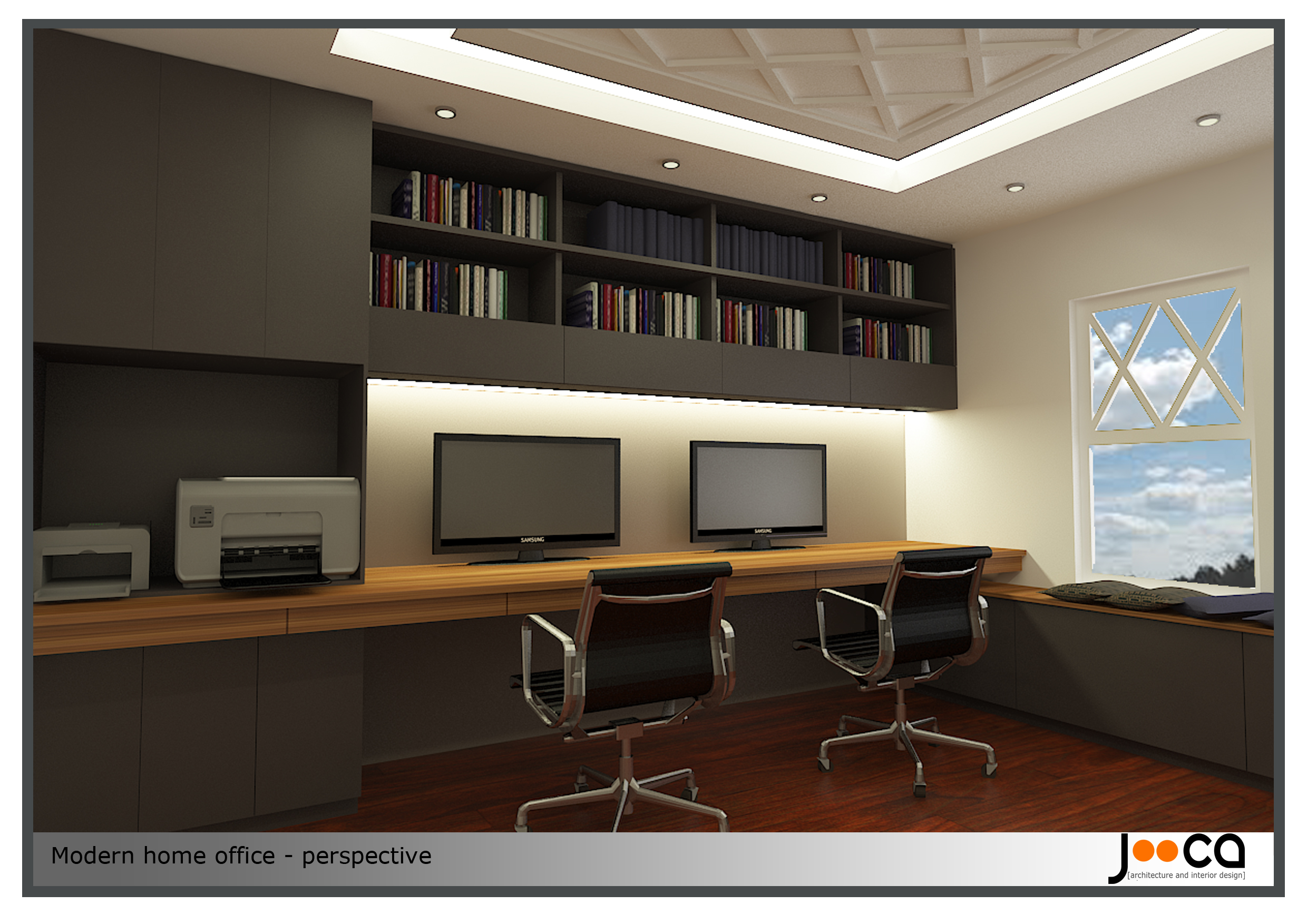 Viewdesignerproject projecthome office for Contemporary home office furniture