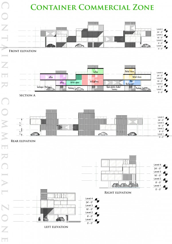 Image Elevations and Section