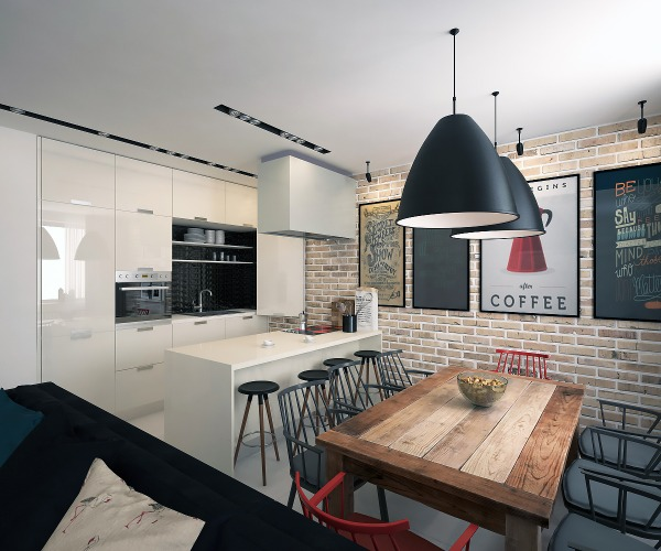 Image Kitchen-dining-living ...