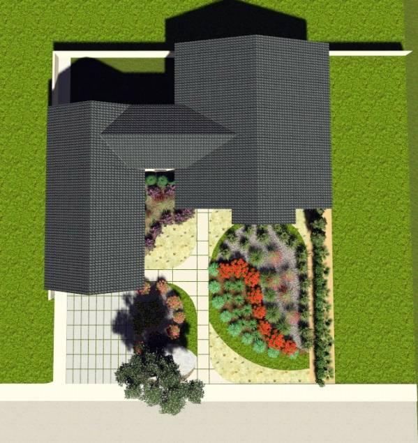 Image Front yard landscape