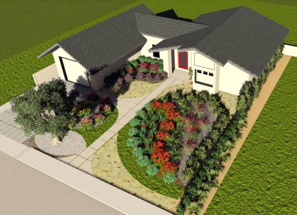Image Front yard landscape (2)
