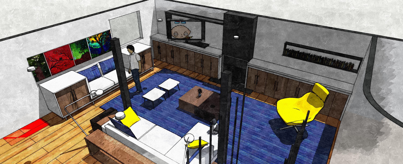 basement finishing project designed by mohamadilhami