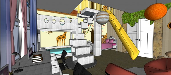 Image Living and Kid's Room