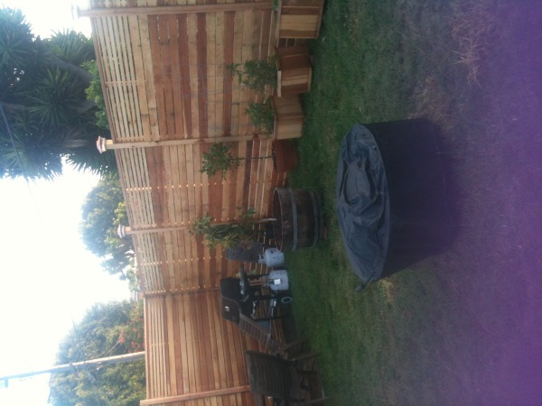 Image Backyard fence - south...