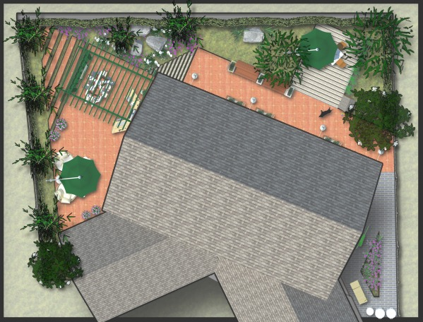 Image top view plan whith tr...