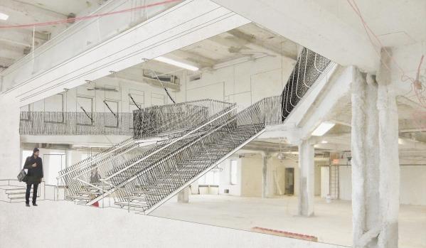 Image suspending stair