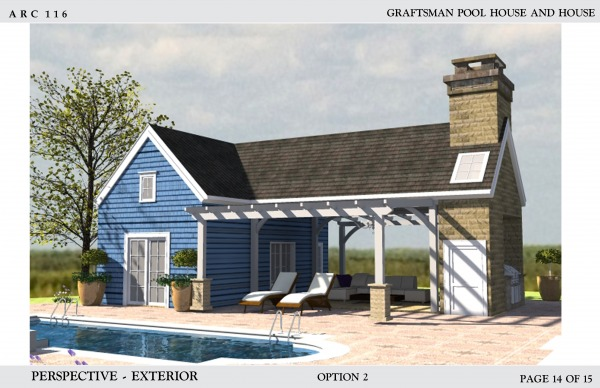 Image Craftsman pool house a... (2)