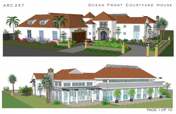 Multi story family homes designed by arcadia design for Ocean front home designs