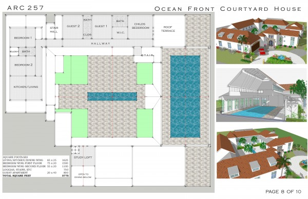 Multi Family House Plans With Courtyard