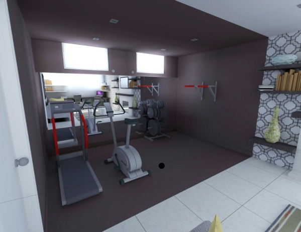 Image Basement Office / Gym