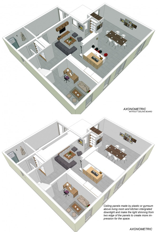 Image Axonometric main floor