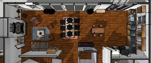 Image kitchen/dining/living