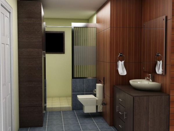 Home interiors designed by anonymous master bath and for Bathroom walk in closet designs