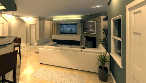 Rendering from Kitchen