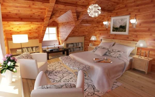 Image Remodel log home loft ...
