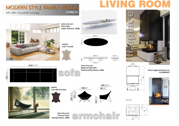 LIVING ROOM detail layout