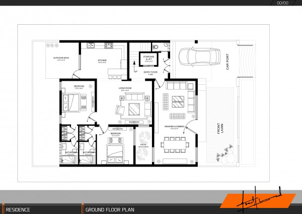 Ground floor space pla...