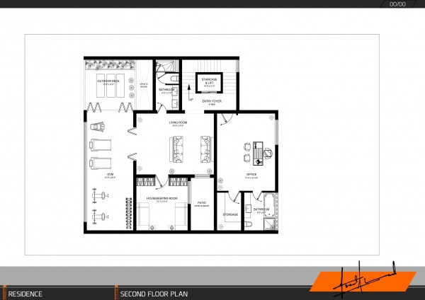 Image first floor space plan...