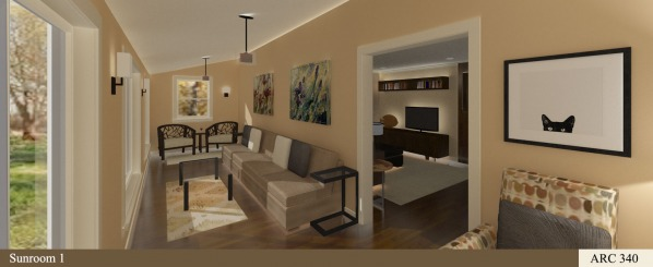 Rendering - Sunroom 1
