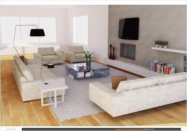 Image Living Room Linear Fir...